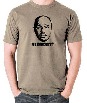 Karl Pilkington, Idiot Abroad, Ricky Gervais Show - Alright - Men's T Shirt - khaki