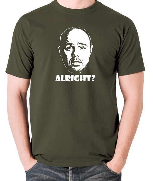 Karl Pilkington, Idiot Abroad, Ricky Gervais Show - Alright - Men's T Shirt - olive