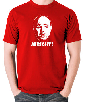 Karl Pilkington, Idiot Abroad, Ricky Gervais Show - Alright - Men's T Shirt - red