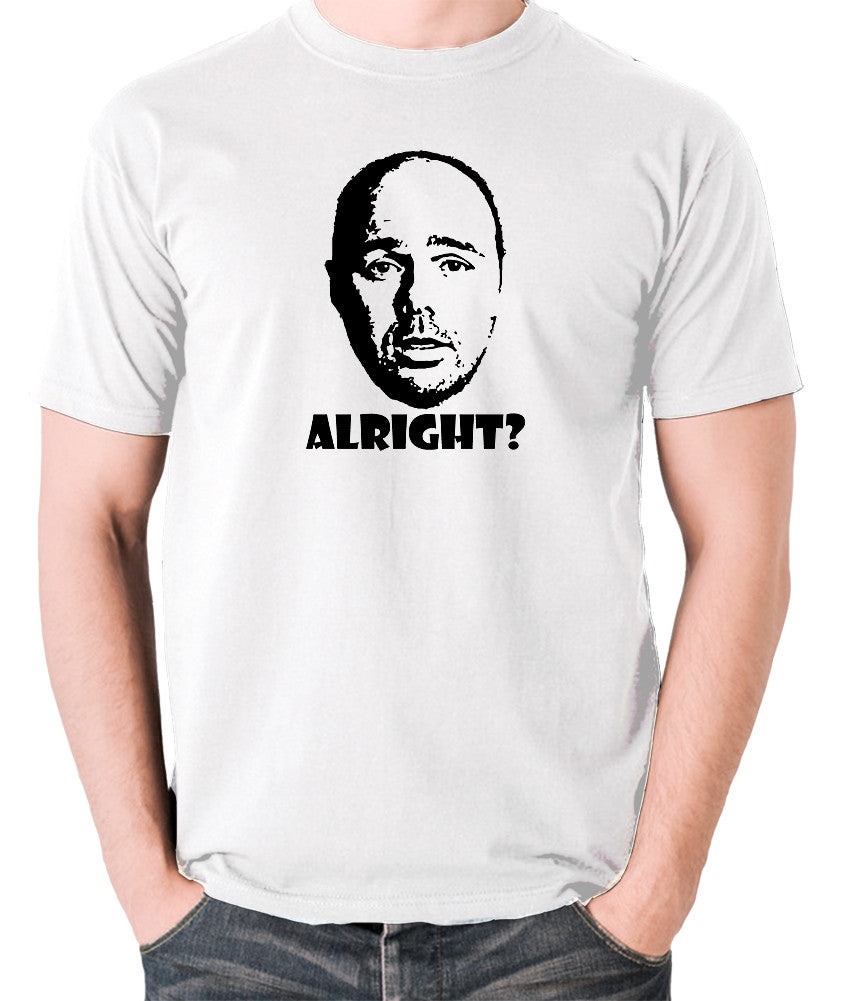 Karl Pilkington, Idiot Abroad, Ricky Gervais Show - Alright - Men's T Shirt - white