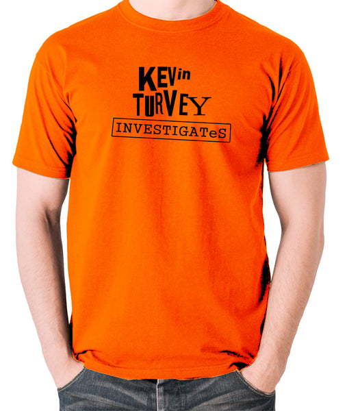 Kevin Turvey Investigates - Rik Mayall - Men's T Shirt - orange