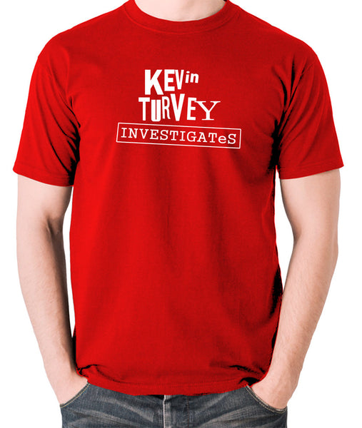 Kevin Turvey Investigates - Rik Mayall - Men's T Shirt - red