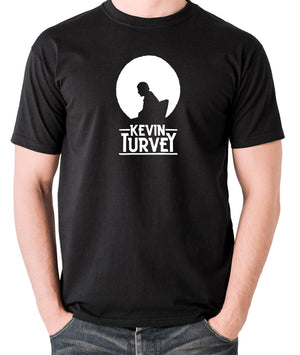 Kevin Turvey Investigates Silhouette - Rik Mayall - A Kick Up The Eighties - Men's T Shirt - black