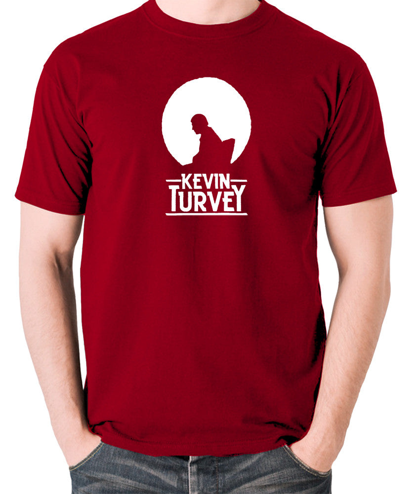 Kevin Turvey Investigates Silhouette - Rik Mayall - A Kick Up The Eighties - Men's T Shirt - brick red