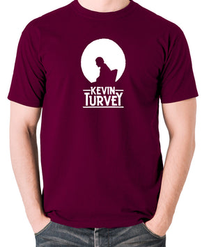 Kevin Turvey Investigates Silhouette - Rik Mayall - A Kick Up The Eighties - Men's T Shirt - burgundy