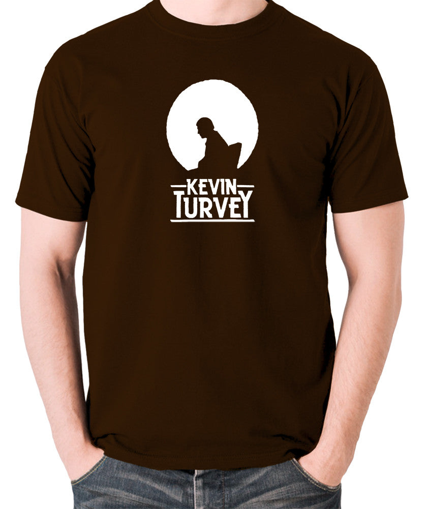 Kevin Turvey Investigates Silhouette - Rik Mayall - A Kick Up The Eighties - Men's T Shirt - chocolate