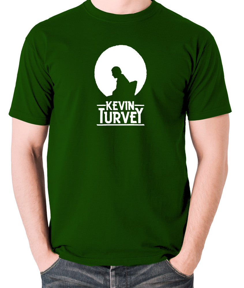 Kevin Turvey Investigates Silhouette - Rik Mayall - A Kick Up The Eighties - Men's T Shirt - green