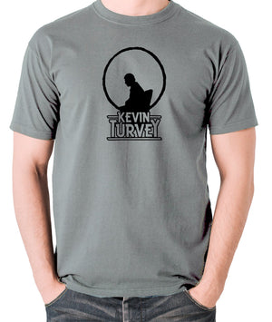 Kevin Turvey Investigates Silhouette - Rik Mayall - A Kick Up The Eighties - Men's T Shirt - grey
