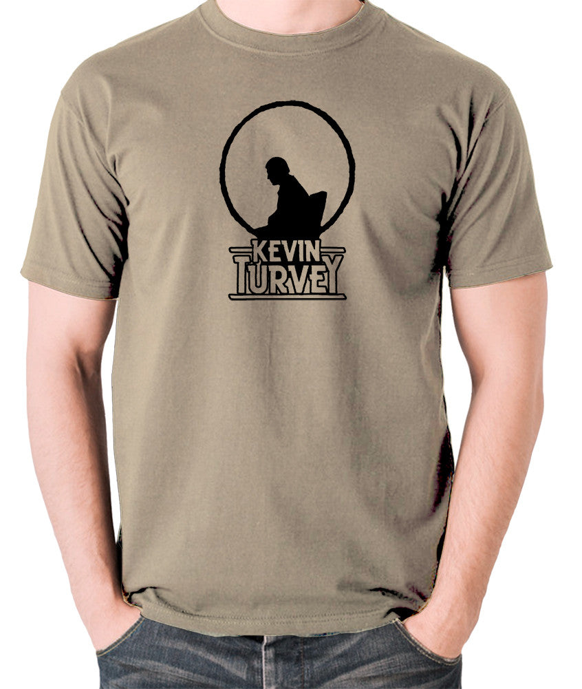Kevin Turvey Investigates Silhouette - Rik Mayall - A Kick Up The Eighties - Men's T Shirt - khaki