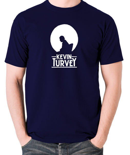 Kevin Turvey Investigates Silhouette - Rik Mayall - A Kick Up The Eighties - Men's T Shirt - navy