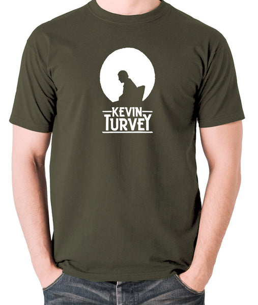 Kevin Turvey Investigates Silhouette - Rik Mayall - A Kick Up The Eighties - Men's T Shirt - olive