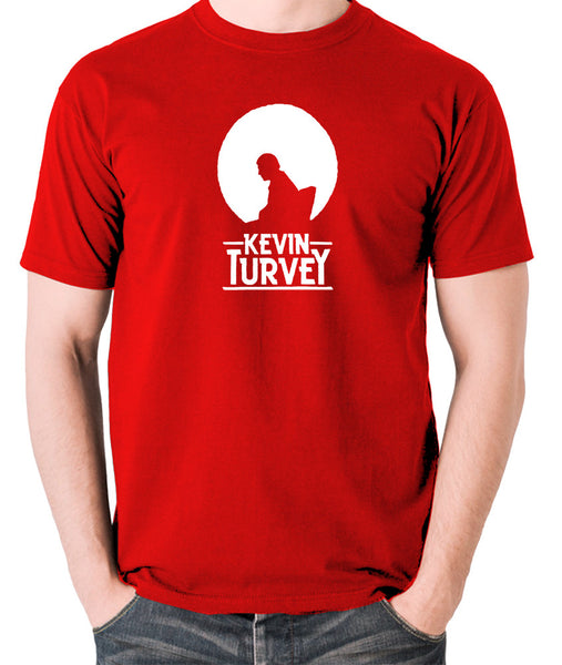 Kevin Turvey Investigates Silhouette - Rik Mayall - A Kick Up The Eighties - Men's T Shirt - red