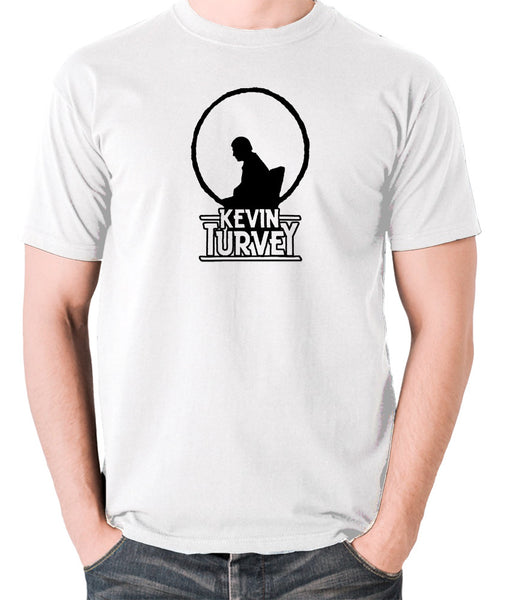 Kevin Turvey Investigates Silhouette - Rik Mayall - A Kick Up The Eighties - Men's T Shirt - white