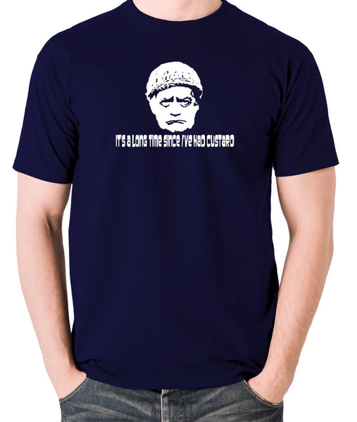 Last Of The Summer Wine - Compo, It's a Long Time Since I've Had Custard - Men's T Shirt - navy