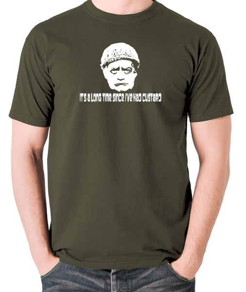 Last Of The Summer Wine - Compo, It's a Long Time Since I've Had Custard - Men's T Shirt - olive