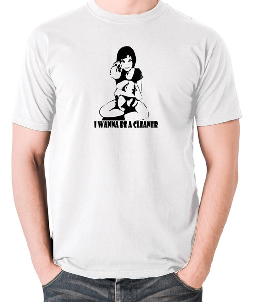 Leon The Professional - Mathilda, I Wanna Be A Cleaner - Men's T Shirt - white