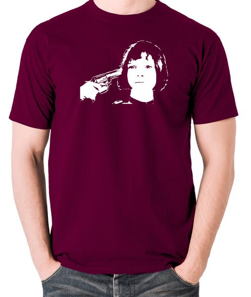 Leon The Professional - Mathilda, Russian Roulette - Men's T Shirt - burgundy