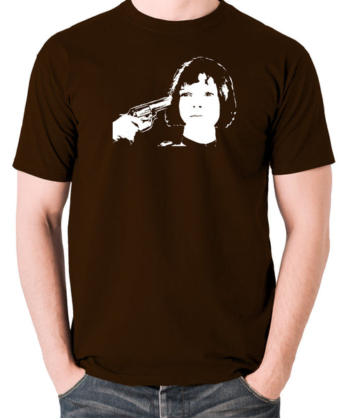 Leon The Professional - Mathilda, Russian Roulette - Men's T Shirt - chocolate