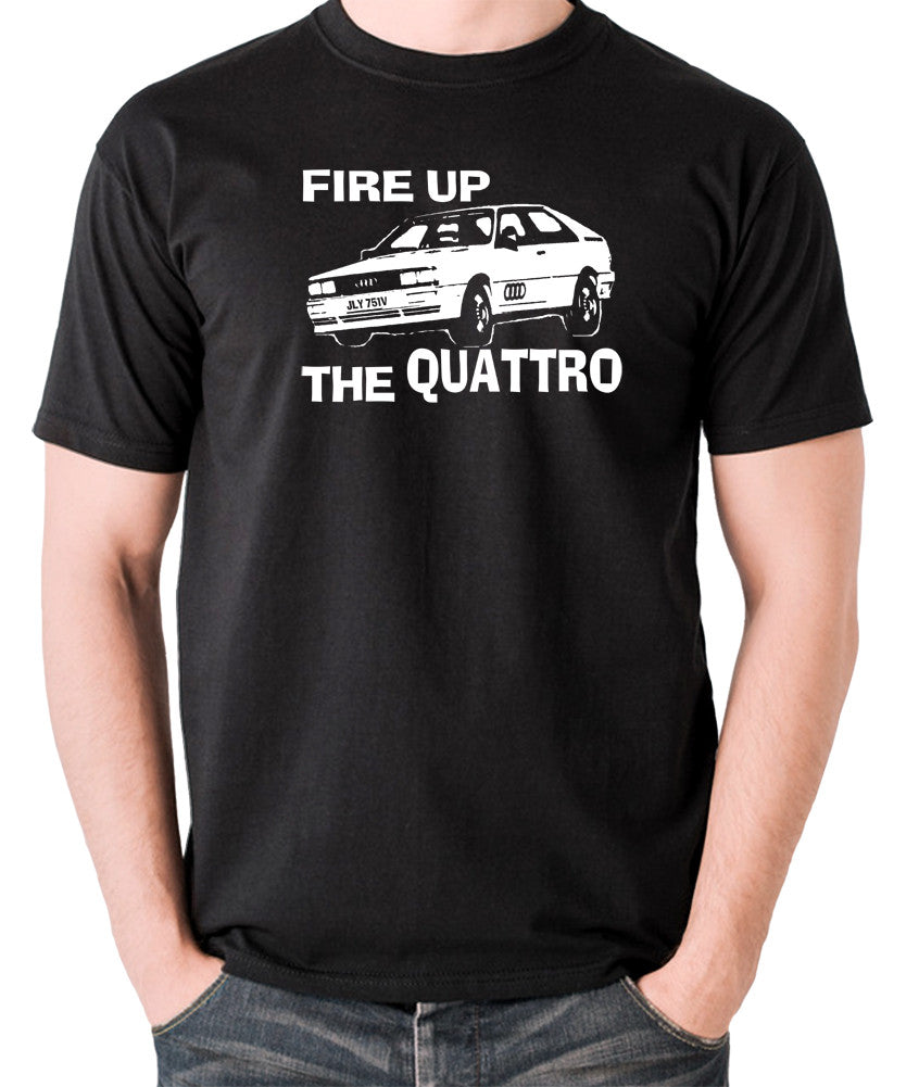 Life On Mars - Ashes To Ashes, Fire Up The Quattro - Men's T Shirt - black