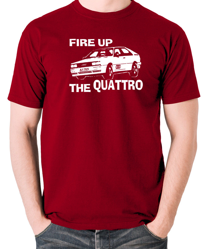 Life On Mars - Ashes To Ashes, Fire Up The Quattro - Men's T Shirt - brick red