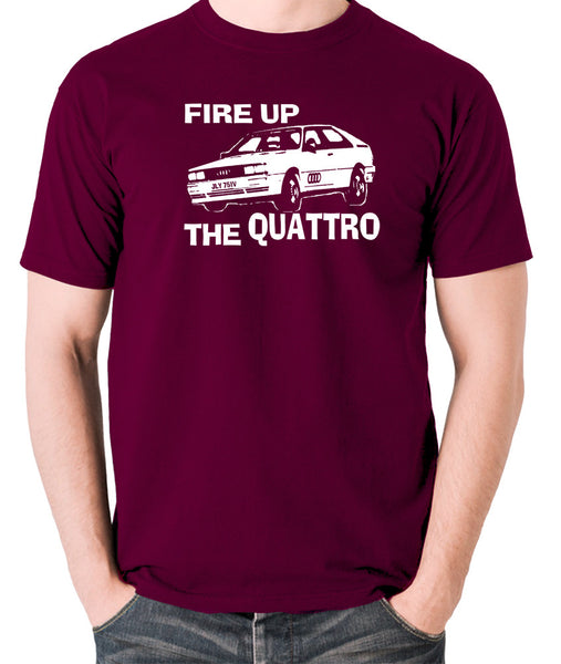 Life On Mars - Ashes To Ashes, Fire Up The Quattro - Men's T Shirt - burgundy