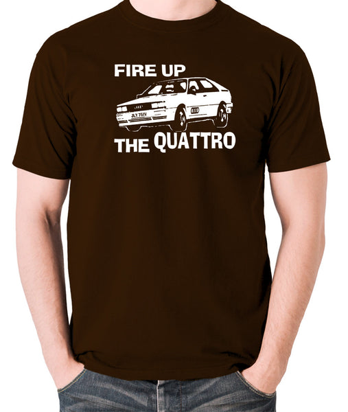 Life On Mars - Ashes To Ashes, Fire Up The Quattro - Men's T Shirt - chocolate