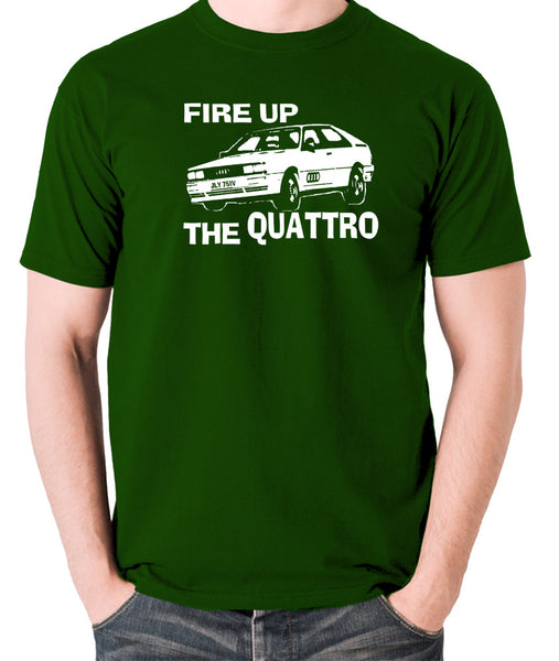 Life On Mars - Ashes To Ashes, Fire Up The Quattro - Men's T Shirt - green