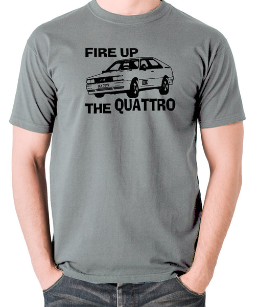 Life On Mars - Ashes To Ashes, Fire Up The Quattro - Men's T Shirt - grey