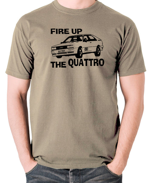 Life On Mars - Ashes To Ashes, Fire Up The Quattro - Men's T Shirt - khaki