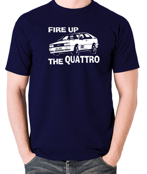 Life On Mars - Ashes To Ashes, Fire Up The Quattro - Men's T Shirt - navy