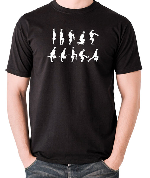 Monty Python's Flying Circus - Ministry of Silly Walks - Men's T Shirt - black