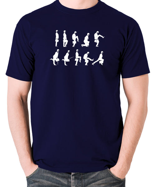 Monty Python's Flying Circus - Ministry of Silly Walks - Men's T Shirt - navy