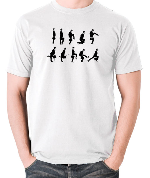 Monty Python's Flying Circus - Ministry of Silly Walks - Men's T Shirt - white