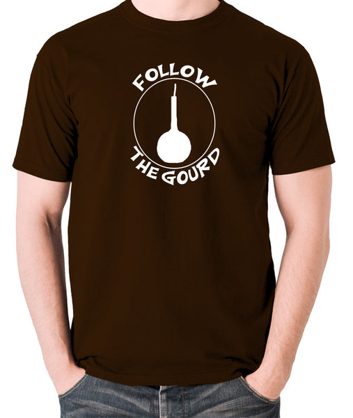 Monty Python's Life Of Brian - Follow the Gourd - Men's T Shirt - chocolate