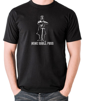 Monty Python and the Holy Grail - The Black Knight, None Shall Pass - Men's T Shirt - black