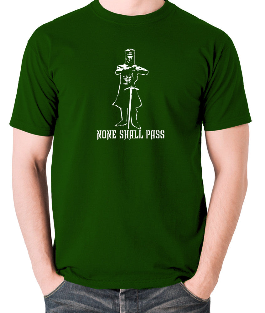 Monty Python and the Holy Grail - The Black Knight, None Shall Pass - Men's T Shirt - green