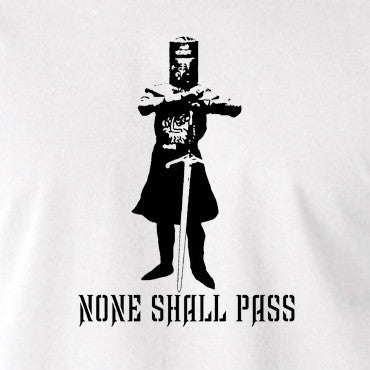 Monty Python and the Holy Grail - The Black Knight, None Shall Pass - Men's T Shirt