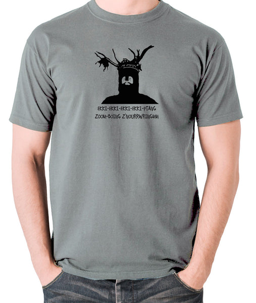 Monty Python and the Holy Grail - The Knights Who Say Ekki Ekki - Men's T Shirt - grey