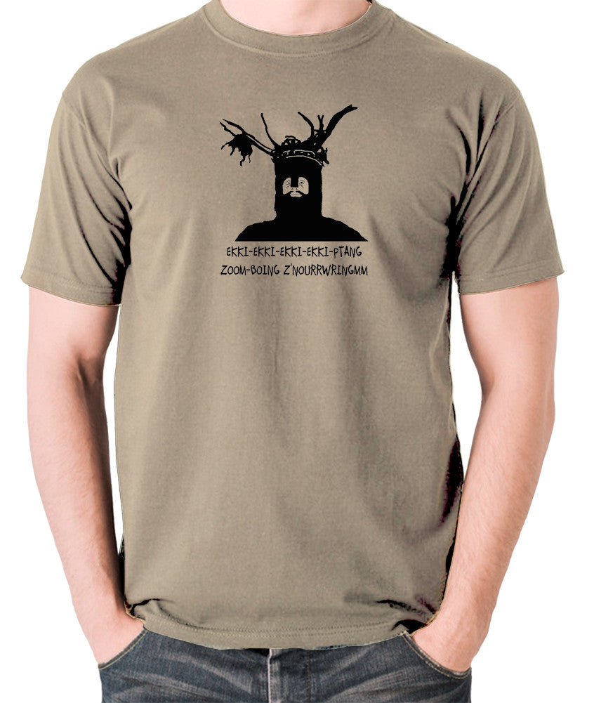 Monty Python and the Holy Grail - The Knights Who Say Ekki Ekki - Men's T Shirt - khaki