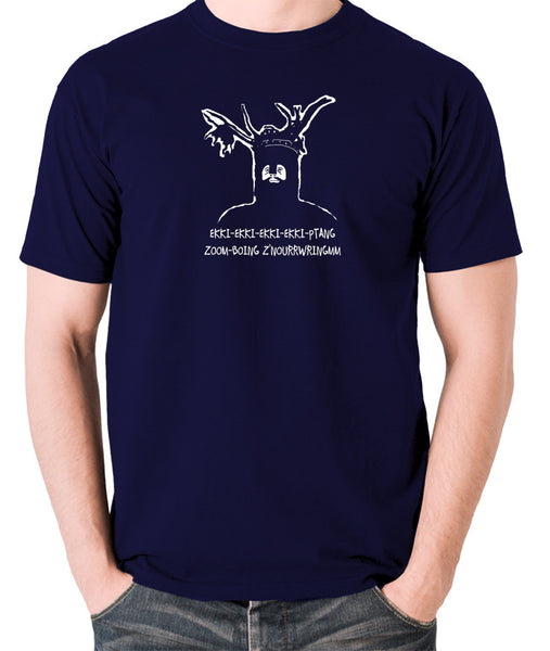 Monty Python and the Holy Grail - The Knights Who Say Ekki Ekki - Men's T Shirt - navy