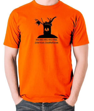 Monty Python and the Holy Grail - The Knights Who Say Ekki Ekki - Men's T Shirt - orange