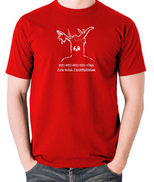 Monty Python and the Holy Grail - The Knights Who Say Ekki Ekki - Men's T Shirt - red