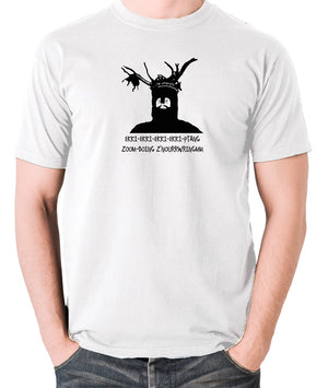 Monty Python and the Holy Grail - The Knights Who Say Ekki Ekki - Men's T Shirt - white