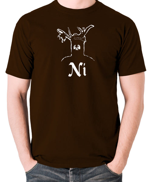 Monty Python and the Holy Grail - The Knights Who Say Ni - Men's T Shirt - chocolate