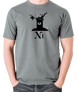 Monty Python and the Holy Grail - The Knights Who Say Ni - Men's T Shirt - grey
