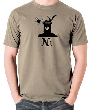 Monty Python and the Holy Grail - The Knights Who Say Ni - Men's T Shirt - khaki