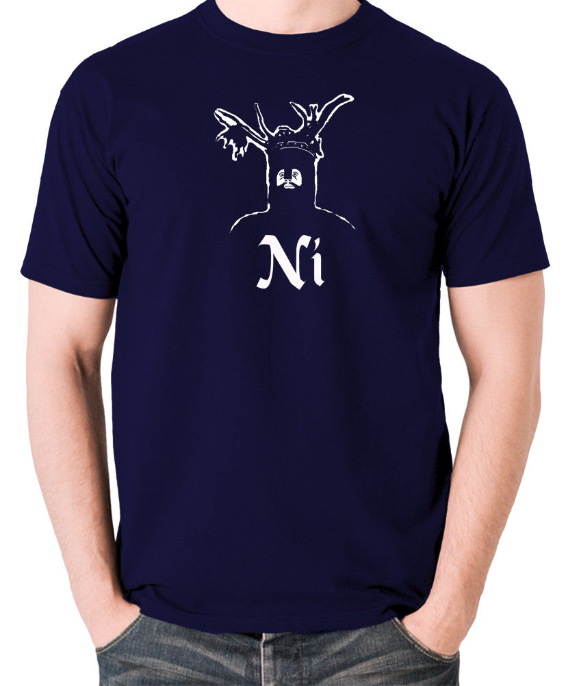 Monty Python and the Holy Grail - The Knights Who Say Ni - Men's T Shirt - navy