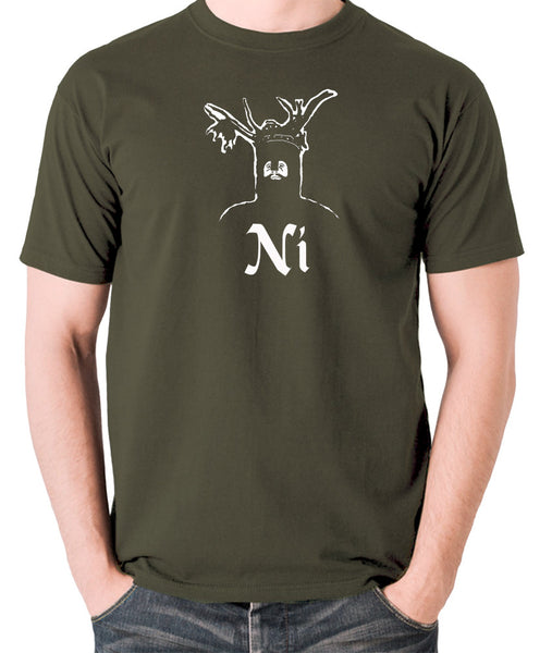 Monty Python and the Holy Grail - The Knights Who Say Ni - Men's T Shirt - olive