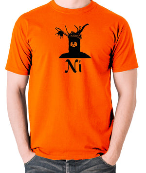 Monty Python and the Holy Grail - The Knights Who Say Ni - Men's T Shirt - orange