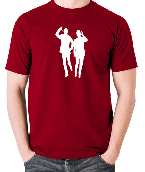 Morecambe And Wise - Eric & Ernie, Bring Me Sunshine - Men's T Shirt - brick red